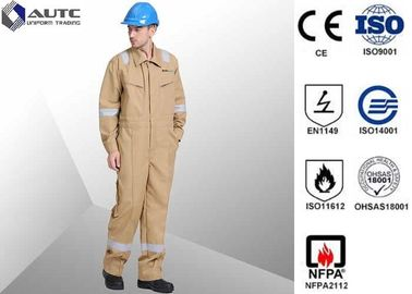 China Lightweight Site PPE Safety Wear Clothing , Work PPE Clothing FR Cotton Flame Retardant supplier