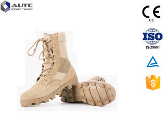 China 6 Inch Waterproof Tactical Boots For Running , Camo Tactical Safety Boots Strong Shoelace supplier