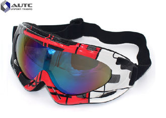 China PC Mirror UV PPE Safety Goggles Black Dirt Bike Racing Wearing Comfortable supplier
