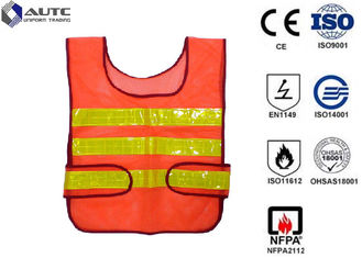 Glistening Safety Reflective Jacket , Security Safety Vest Warning Loop Closed