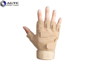China Custom Military Tactical Gloves Half Finger Airsoft Cycling Polyester Material supplier