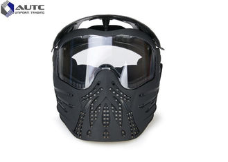 China TPE PC  Military Tactical Masks Anti Fog Black Color 3.58mm Thickness PC Lens supplier