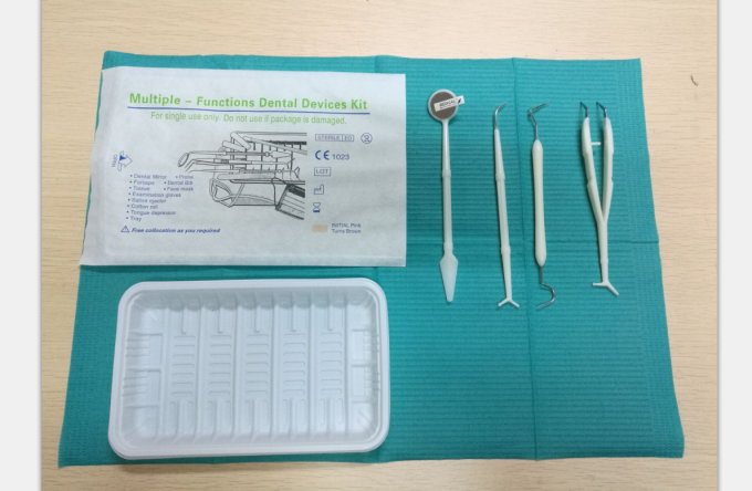 Blue Dental Diagnostic Instruments , Dental Health Kit Convenient Economical