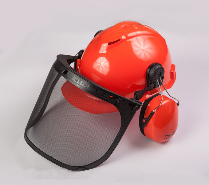 Metallurgy PPE Safety Helmet , Industrial Safety Helmet With Face Protection