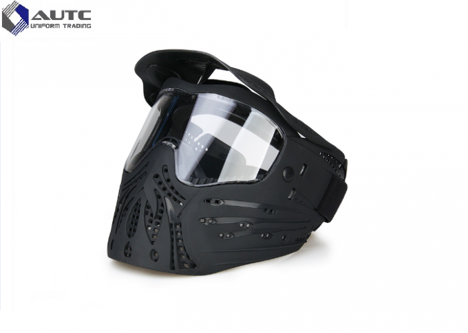 TPE PC  Military Tactical Masks Anti Fog Black Color 3.58mm Thickness PC Lens