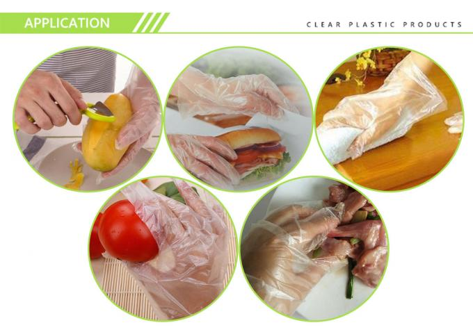 Waterproof resistant disposable polyethylene plastic gloves for food grade