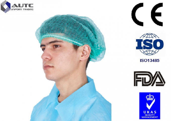 Cloth Surgical Disposable Medical Caps , Surgical Skull Caps Dustproof For Men