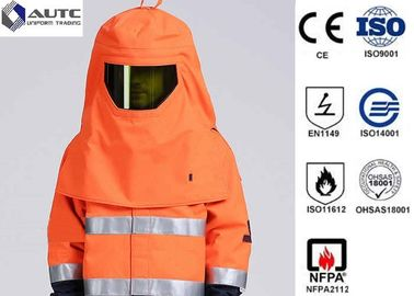 China Orange S-3XL Welding Protective Clothing Arc Flash Proof Full Size For ASTM F19 distributor