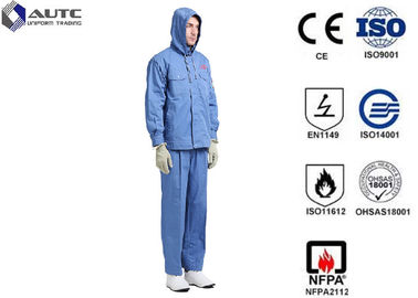 China Fiber Blended Ppe Protective Clothing High Voltage Conductive Suit For Substations Inspectors factory