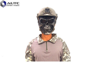 China Black Cool Military Tactical Masks , Custom Tactical Skull Face Mask Skeleton distributor
